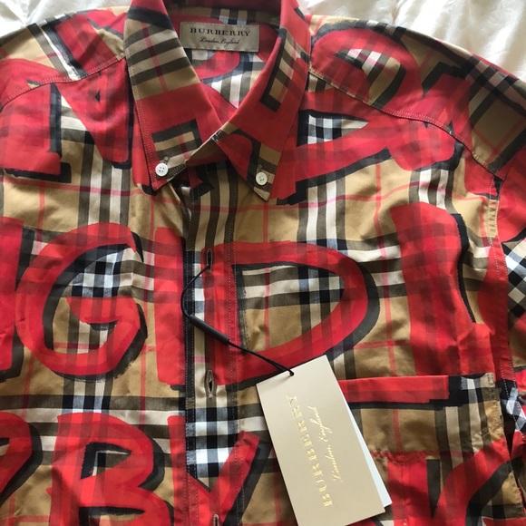 faffac74 Graffiti Print Vintage Check Shirt